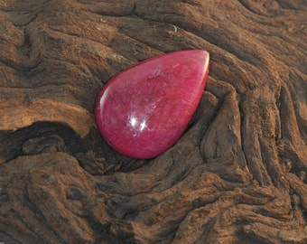 Ruby smooth pear pendant gemstone 48.6 cts