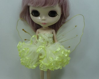 Blythe Outfit Clothing Cloth Fashion costume dress with wings Fairytopia Ballerina Fantasy Fairy Angel 300-9