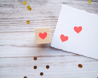 Mini Heart Stamp Tiny Rubber Stamp