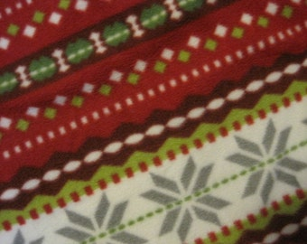 Snow Flakes with Gray Holiday Blanket - Ready to Ship Now
