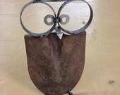 Owl Yard Art Recycled Garden Sculpture can opener