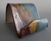 Business Card Holder Cellphone Holder in Copper, Blue and Green