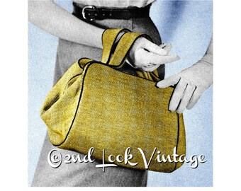 Vintage 1950s Custom Purse Doctor Bag Satchel Handbag DIY Sewing Pattern Digital Download