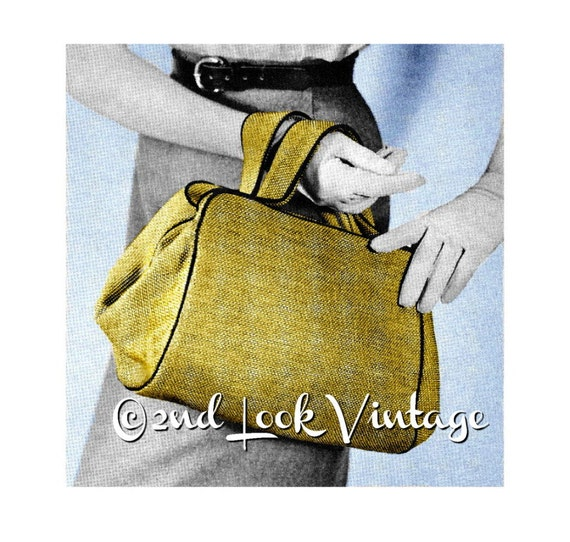Vintage 1950s Custom Purse Doctor Bag Satchel Handbag DIY Sewing Pattern Digital Download