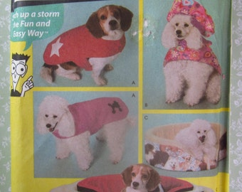 Easy to Sew Dog Accessories Dog Bed Covers in Four Sizes and Dog Coats in Sizes S-M-L  UNCUT Simplicity Pattern 4793