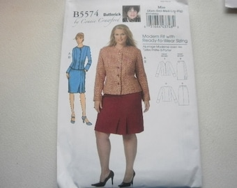 Pattern Petite Ladies Skirt  and Jacket Sizes 3 to 16 Butterick 5574