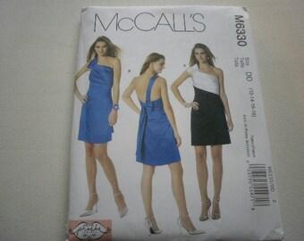 Pattern Ladies Dress Shoulder Straps Sizes 12 to 18 McCalls 6330 A