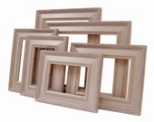 Picture Frames Picture Frame Set Neutral or Custom Frames Wall Decor Nursery Wedding Frames Rustic Picture Frames Wood Frames Shabby Chic