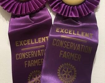 Purple Ribbons 1964 Hodge Badge Company