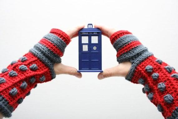 Dalek Gloves Crochet Pattern from EmeraldCostumes on Etsy ...