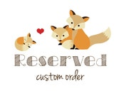 RESERVED for Phung D. -- custom baby fox thank you cards -- set of 50