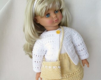 """Knitted Outfit for 18"""" American Girl or Gotz Dolls"""