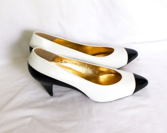 Vintage Black and White Pumps