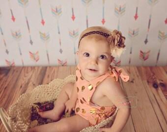 autumn headband, shabby chic headband, colorful headband, baby girl headband, photography prop