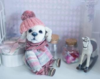 Dog puppy 8 inch. Teddy dog. Teddy bear. Labrador. Artist bears. Stuffed animal. OOAK. FREE SHIPPING