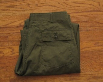 mens vintage OD green utility trousers