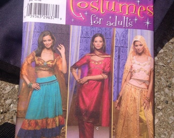 Simplicity 4249 RR Sizes 14-20 Kurti Belly Dancing Indian Bollywood Dance Costume Pattern
