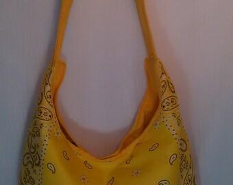 Sunshine Yellow Bandana Purse