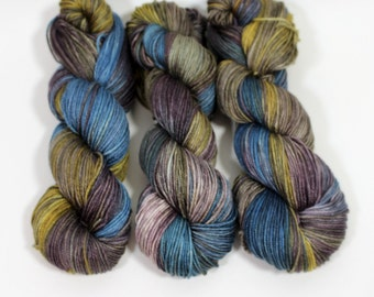 Hand dyed yarn silk merino DK, Cameron, View of the Hudson