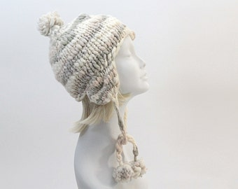 Knitting Pattern / Snow Hat with ear flaps / pdf digital Instant Download