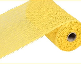 10 Inch Yellow Woven Paper Mesh RR800129, Deco Mesh Supplies