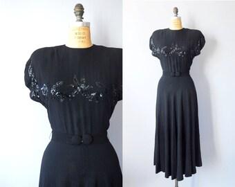 1940s Dress / Take Me Dancing Dress / 40s