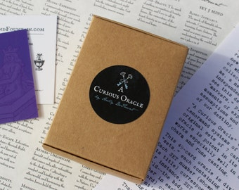 LIMITED 2ND EDITION of 100- A Curious Oracle Cards, Oracle Deck, Tarot, Oracle