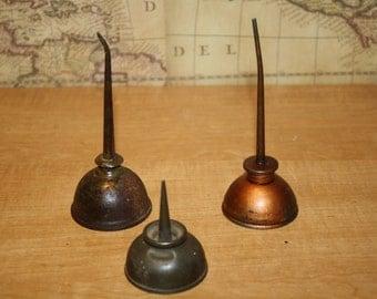 Vintage Oil Cans - set of 3 - item #2068