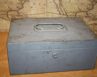 Vintage Metal Storage Box - item #1634