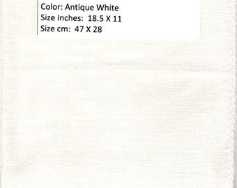 GT 97 -  Zweigart Belfast Linen, 32 Count, Antique White, 18.5 X 11 Inches , 47 X 28 cm, Cut Fabric Collection