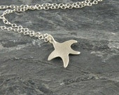 Starfish Necklace, Tiny Star Jewelry Gift For Teens ,Sterling Silver Necklace Star Fish Pendant ,Beach Jewelry, Sea Star necklace