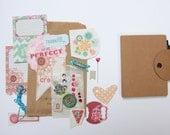 Mini Journal Book Album Notebook Jotter . Travel Listing Listers Challenge Goals . DIY Crafting Kit . Scrapbooking Smashbooking Scrapbook