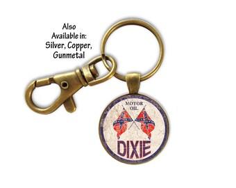 Key Ring, Dixie Motor Key Ring, Vintage Key Ring