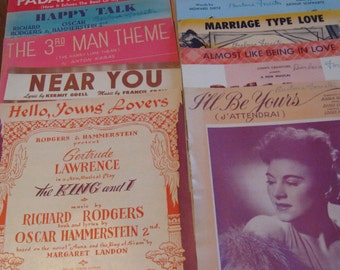 Vintage Sheet Music Collection Sing, Play, Collect, Recycle 17 tunes