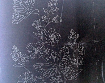 Tri-Chem Pictures to Paint – Butterflies and Flowers on Velveteen – No. 7897 – 3 Pictures  - Vintage