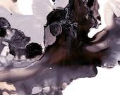 "Abstract Watercolor Art Print - Original Design - Fine Art Custom Painting - Orchid Bloom ""D"" - 13x19 / 17x22 / 20x30"