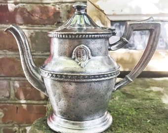 Vintage 1956 Silver Plate Teapot from The Biltmore Hotel Los Angeles CA