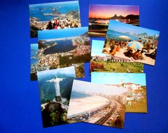 Rio De Janiero Postcards, Set of Nine, Brazil
