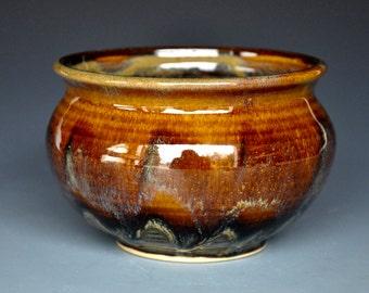 Stoneware Tea Bowl Chawan Sienna Garnet D