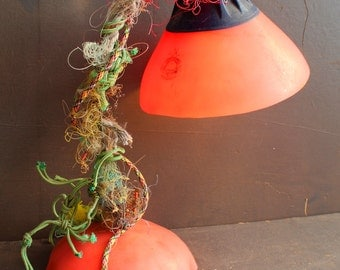 Mooring Bouy table Lamp,Upcycled nautical fishing boat lamp,Urban Desk Lamp LED golf ball Bulb included