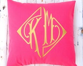 Two Letter Monogram Pillow - Throw Pillow Cover - Personalized Gift - Dorm Pillow - Couple Gift - Wedding Decor - Hostess Gift