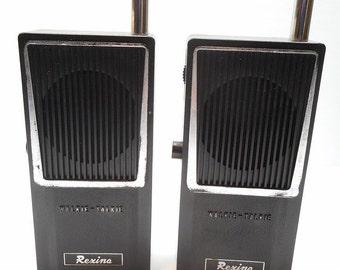 Vintage Rexina Walkie Talkie Set, All Transistor Walkie Talkies