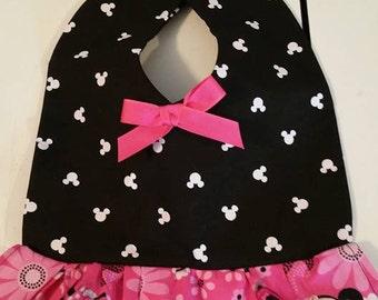 Baby Bib Dress Pink Minnie Mouse