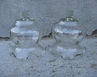 votive cups set of 2 home interiors larger size clear glass votives optic design ruffled tops peg votive