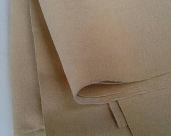 Tan Ultrasuede Fabric 2 3/4 Yards X0439 MO