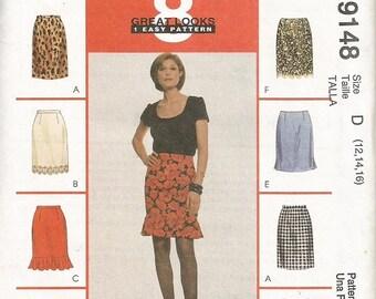 McCall's 9148  Misses 8 Great Looks Skirt Pattern  SZ 12-16