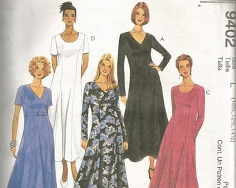 McCall's 9402 Womens Half Size Dress Pattern SZ 10 1/2 by 14 1/2.