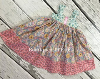 Girls Reverse Knot Dress Garden Party Collection Toddler Infant Girls