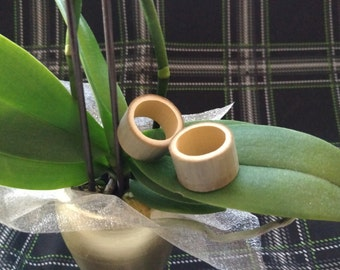 "Organic Bamboo Plug Earrings 1"" Diameter."