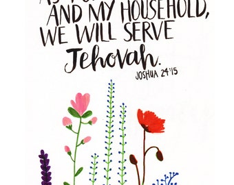 Joshua 24:15 Print instant download
